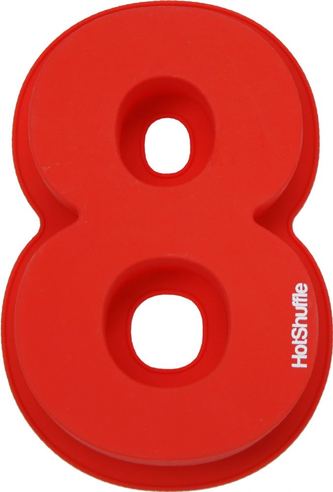 Large 30cm Silicone Number 8 Cake Mould Tin